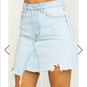 FREE PEOPLE woman denim skirt